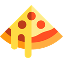 slice, dough, Food And Restaurant, Pizza, food, piece, Italian Food Black icon