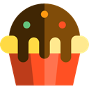 Dessert, cupcake, food, sweet, Bakery, Food And Restaurant, baked, muffin Black icon