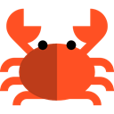 Beach, Sea Life, summer, food, Food And Restaurant, Animals, Crabs, Crab, Aquarium OrangeRed icon