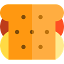 Lunch, snack, meal, Food And Restaurant, sandwich, Bread, food SandyBrown icon