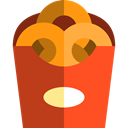 Onion Rings, Food And Restaurant, Fast food, Unhealthy, food, snack Firebrick icon