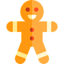 cookie, Bakery, gingerbread man, Dessert, Food And Restaurant, food, sweet, gingerbread Black icon