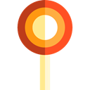 Dessert, sugar, Food And Restaurant, sweets, Lollipop, food, Candy Black icon