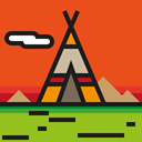 native, Wigwam, american, miscellaneous, tipi Chocolate icon