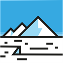 polar, nature, north pole, glacier DodgerBlue icon