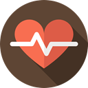 Heart, Cardiogram, heart rate, Electrocardiogram, pulse, Healthcare And Medical, medical DarkOliveGreen icon