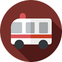 Ambulance, Healthcare And Medical, transport, vehicle, emergency, Automobile, medical, transportation SaddleBrown icon