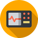 hospital, Healthcare And Medical, Health Clinic, Electrocardiogram, Cardiogram, Stats, medical Orange icon