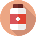 Healthcare And Medical, Health Clinic, medicine, medical, hospital, pills, Health Care DarkSalmon icon