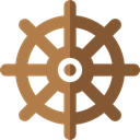 Boat, helm, ship, transport, Tools And Utensils, miscellaneous, navigation, sailing Sienna icon