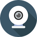 technology, video chat, electronics, Webcam, Videocall, Cam, Videocam DarkSlateGray icon