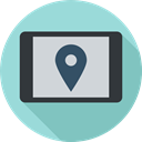 electronics, placeholder, position, Map, Multimedia, Orientation, Gps, Geography, location LightBlue icon