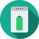 Battery, recharge, charger, electronics, Power Bank LightSeaGreen icon
