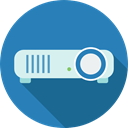 video, electronics, image, Projector, technology, picture SteelBlue icon