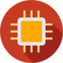 electronic, computing, technology, microchip, electronics, Technological Firebrick icon