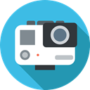 domestic, electronics, camcorder, technology, digital camera, video camera, gopro MediumTurquoise icon