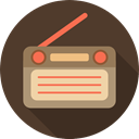 vintage, technology, electronic, electronics, radio, music DarkOliveGreen icon