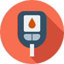 Glucosemeter, Health Care, electronics, diabetes, hospital Tomato icon