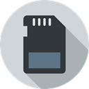 technology, sd card, card, Multimedia, storage, electronics, Memory card LightGray icon