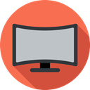 electronics, screen, monitor, television, technology, 3d, Tv Tomato icon