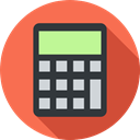 electronics, calculator, Calculating, Technological, technology, maths Tomato icon