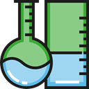 Chemistry, Test Tube, Flasks, flask, chemical, science, education DarkSeaGreen icon