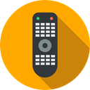 electronics, television, Remote control, technology, wireless Orange icon