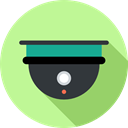 surveillance, technology, cctv, electronics, security, security camera PaleGreen icon