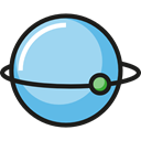 planet, Astronomy, galaxy, education, universe LightBlue icon