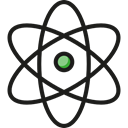 education, physics, Atomic, science, Atom, nuclear, Electron Black icon