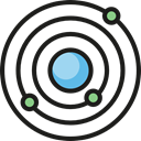 planet, education, Astronomy, galaxy, universe Black icon