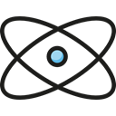 Atom, nuclear, Atomic, education, Electron, physics, science Black icon