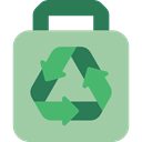 Ecology And Environment, Shop, Bag, Bags, Renewable, commerce, recycle DarkSeaGreen icon