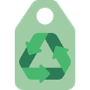 Ecology And Environment, Price, Recycled, Shop, tag, Label, price tag, shopping DarkSeaGreen icon