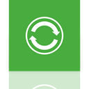 sync, Center, Mirror LimeGreen icon