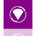 twist, Bejeweled, Mirror DarkMagenta icon