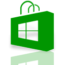 window, Mirror, store Green icon