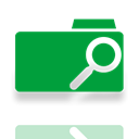 Mirror, search, Folder ForestGreen icon