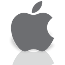 Os, Apple, Mirror DimGray icon