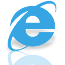 Mirror, internet, Explorer DodgerBlue icon