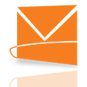 Hotmail, Mirror, Live DarkOrange icon