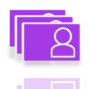 window, card, Mirror, space DarkOrchid icon