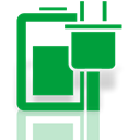 option, power, Mirror ForestGreen icon