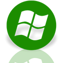 media, window, Mirror, Center Green icon