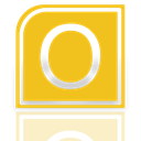 Alt, outlook, Mirror Goldenrod icon