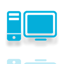 Mirror, Computer, Alt DarkTurquoise icon