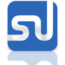 Stumbleupon, Alt, Mirror SteelBlue icon