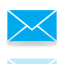 mail, Mirror DeepSkyBlue icon