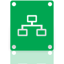 Mirror, network, connected, drive SeaGreen icon