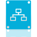 drive, Mirror, network DarkTurquoise icon